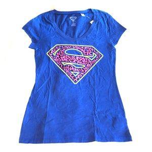 DC COMICS Leopard Superman Supergirl Tee T-shirt M